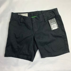 NWT Juniors Hurley Lowrider Black Short, Size 0